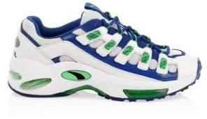 Puma Men's Cell Endura Leather& Mesh Sneakers - White - Size 12