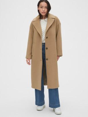 Gap Oversized Longline Wool-Blend Coat