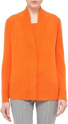 Akris punto Hidden-Button V-Neck Cardigan, Peach $795 thestylecure.com