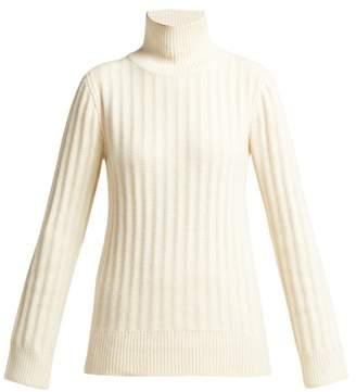 The Row Marton Ribbed Cashmere Sweater - Womens - Cream