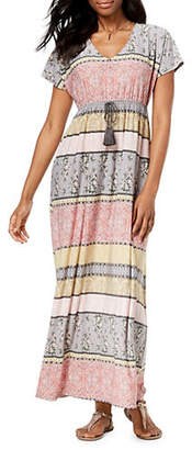 Style&Co. STYLE & CO. Printed V-Neck Dolman Sleeve Maxi Dress