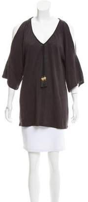 Calypso Cold-Shoulder Linen Top