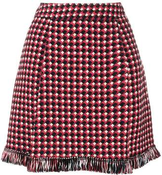 Moschino knitted fringed skirt