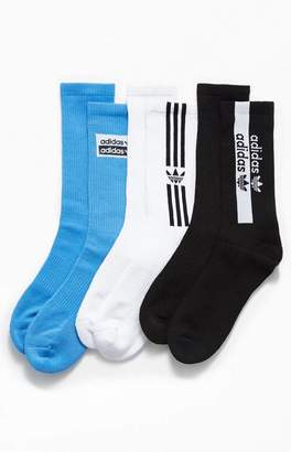 adidas 3 Pack Stacked Forum Crew Socks