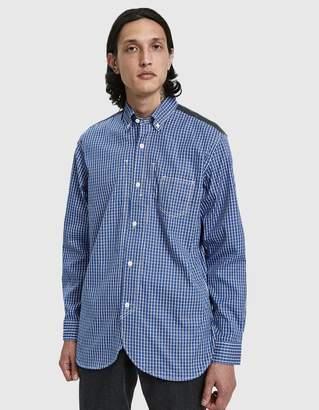 Junya Watanabe Twill Check Flannel Button Down Shirt