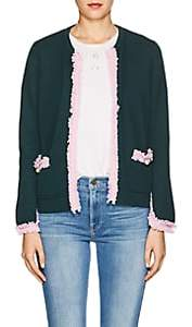 Barneys New York Women's Fringed Cashmere Cardigan-Green