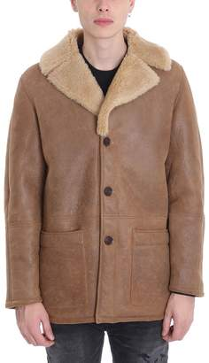Levi's Brown Wool And Leather Coat