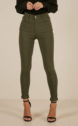 Showpo Fill Me In jeggings in khaki - 16 (XXL) Jeggings
