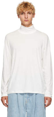 Isabel Benenato White Jersey Turtleneck