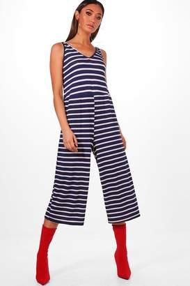 boohoo Striped Culotte Jumpsuit