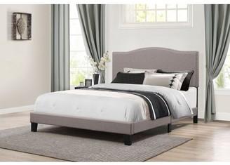 Hillsdale Furniture Kiley Upholstered Platform Bed, Nailhead Trim Headboard, Multiple Sizes