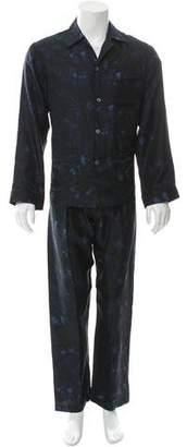 Valentino Butterfly Print Pajama Set