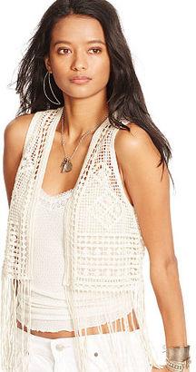 Ralph Lauren Denim & Supply Fringed Crocheted Vest $145 thestylecure.com