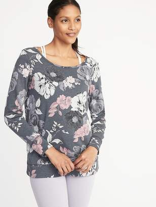 Old Navy Relaxed French-Terry Keyhole-Back Sweatshirt for Women