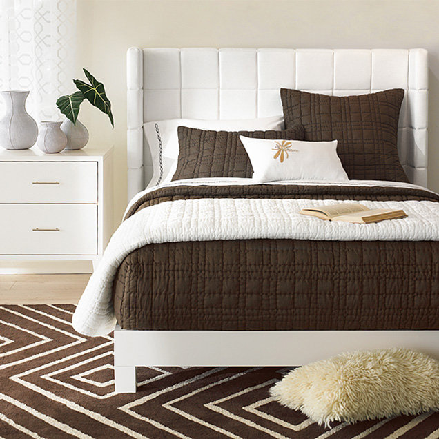 Quilted Wingback Headboard