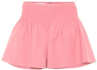 Valentino Wool and silk crepe shorts