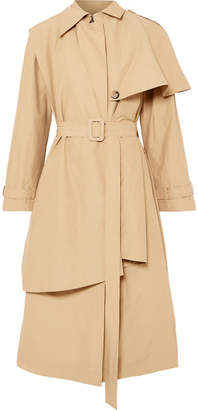Awake Cape-effect Cotton-blend Trench Coat