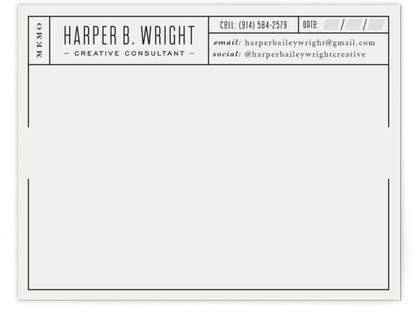 Perfect Grid Personalized Stationery