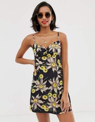 Asos Design DESIGN mini twist front skater sundress in vintage floral