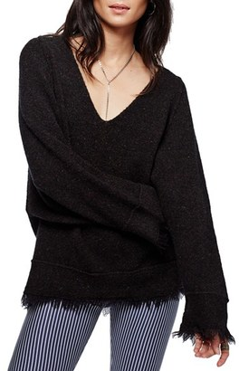 Women's Free People Irresistible Fringe Trim Sweater $118 thestylecure.com