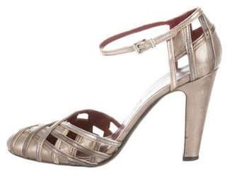 Prada Leather Ankle Strap Pumps