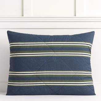 Pottery Barn Teen Eton Stripe Sham, Standard, Navy