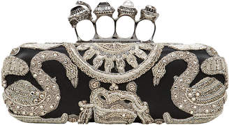 Alexander McQueen Four Rings Embellished Clutch
