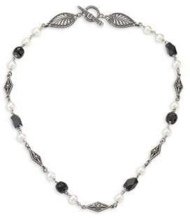 Konstantino Iliada Moonstone, Pearl& Sterling Silver Necklace