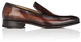 Harris Men's Stitch-Detail Leather Venetian Loafers-Dk. brown