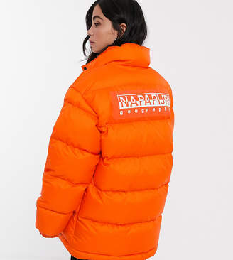 Napapijri Ari puffer jacket in orange