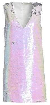 Amen Women's Sequined V-Neck Dress - Pink - Size 40 (2-4)