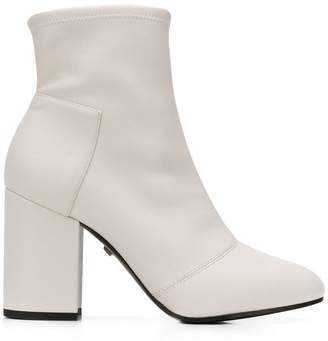 Grey Mer smooth ankle boots