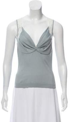 Christian Dior Wool-Blend Sleeveless Top