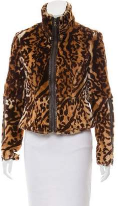 Andrew Marc Shearling Zip-Up Jacket