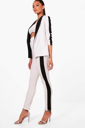 boohoo Contrast Side Stripe Skinny Trouser