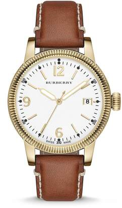 Burberry BU7852 38mm Stainless Steel Case Brown Leather Anti-Reflective Sapphire Women's Watch