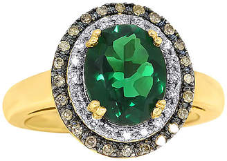 JCPenney FINE JEWELRY Lab-Created Emerald and Diamond Oval Ring