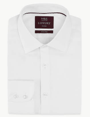 M&S Collection LuxuryMarks and Spencer Linen Rich Tailored Fit Shirt