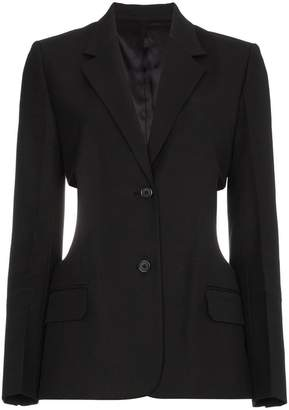Helmut Lang cutout cotton blend blazer