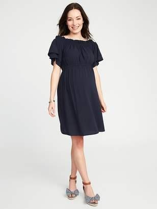 Old Navy Maternity Cinched-Waist Ruffle-Sleeve Dress