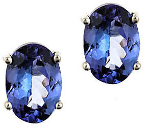 QVC 1.25 ct tw Oval Tanzanite Earrings, 14K Gold