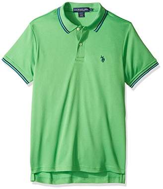 U.S. Polo Assn. Men's Short Sleeve Slim Fit Solid Poly Polo Shirt