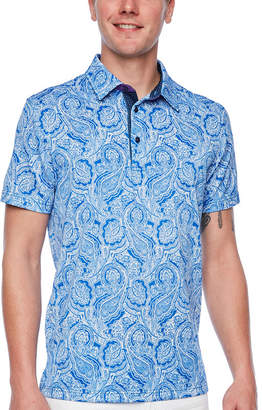 SOCIETY OF THREADS Society Of Threads Short Sleeve Paisley Pique Polo Shirt