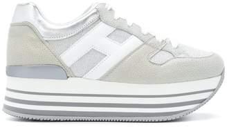 Hogan striped platform logo sneakers