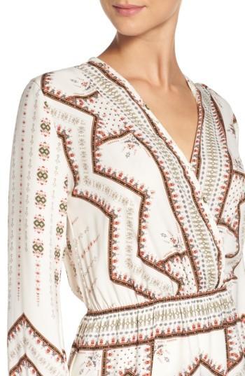 Women's Fraiche By J Print Faux Wrap Dress 3
