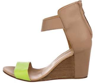 b473d2997ffb MM6 MAISON MARGIELA Leather Ankle Strap Wedges