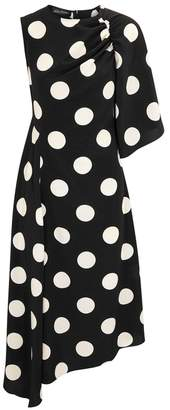 DAY Birger et Mikkelsen Anna October Polka-dot Brushed Satin Midi Dress