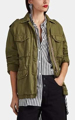 Nili Lotan Women's Wren Cotton-Linen Field Jacket - Uniform Green