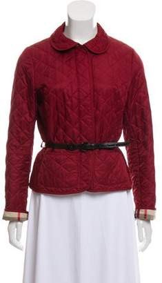 Burberry Quilted Belted Jacket