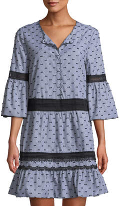 Kobi Halperin Joan 3/4-Sleeve Shift Dress